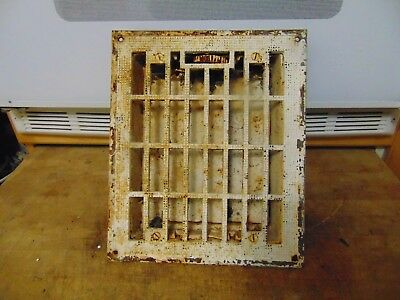 vintage /  antique  cast iron floor grate #   6561