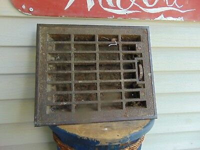 vintage /  antique  cast iron floor grate #   6261