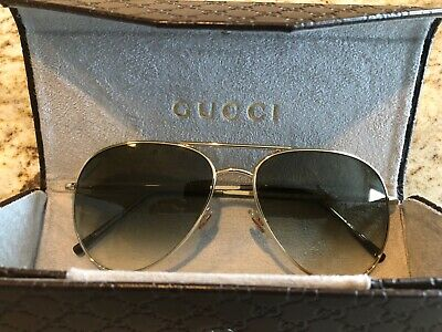 5b93ee881ee GUCCI SUNGLASSES MEN S Aviator GG0014S Brown 60mm Made In Italy New ...