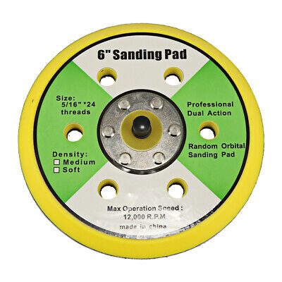 "6"" Dual Action Random Orbital Sanding Pad 12000RPM Polishing Pad"