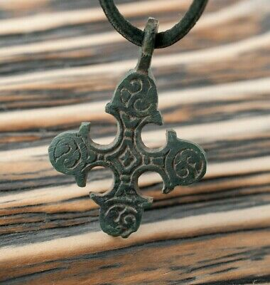 Viking Ancient Cross, 10th-11th Century AD Unique Medieval Artifact, Pagan Cross