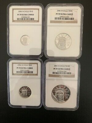 2006-W Proof Platinum American Eagle Set PF-70 NGC (4-Coin) $100 $50 $25 $10