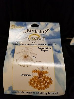 Darcie Safety Pin Birthstone Angels Ornament Kit November Topaz