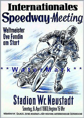 Vintage Roller Speedway Harringay A3 Poster Reprint
