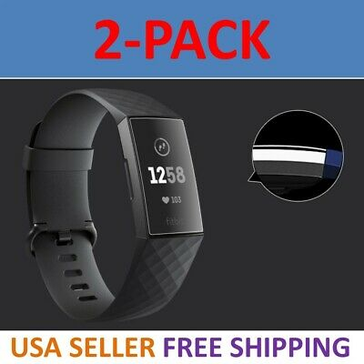 2-Pack Screen Protector PET Full Coverage Clear Film For Fitbit Charge 3 HD
