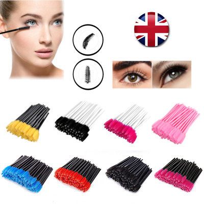 Disposable Eyelash Mascara Brushes Lash Wands Extension Applicator Spoolers UK