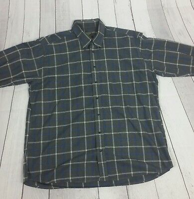 9f33160b Gitman Brothers Mens XL Vintage Plaid Long Sleeve Button Front Shirt made  in USA