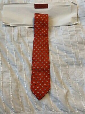 05b2227bb New Authentic Salvatore Ferragamo Men Tie Red Alligator Flying Plane Logo   190