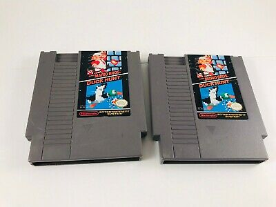 Lot of 2 NES  Nintendo Games - Super Mario Bros./Duck Hunt - 2 Copies Free Ship