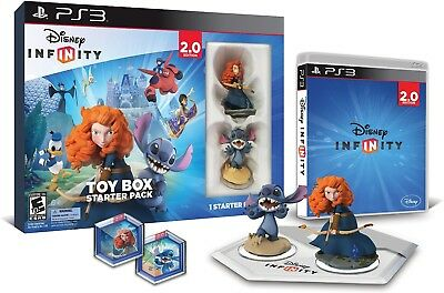 Playstation 3 Disney Infinity 1 Toy Box Starter Pack 2.0 Edition! Merida, Stitch