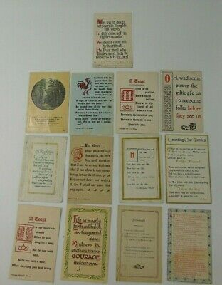 39 Vintage Postcards QUOTES VERSES Humorous Inspirational