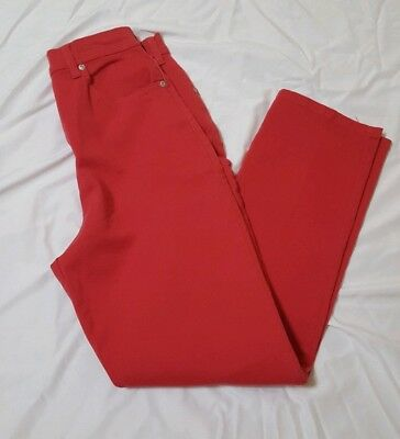 Gloria Vanderbilt Women's Classic Fit Stretch Pants Fruit Punch Size 12 Medium