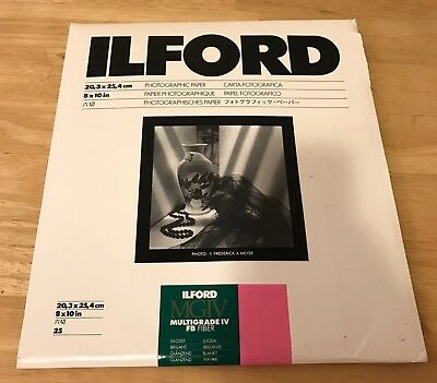 Ilford MGIV Multigrade IV FB Fiber 8 x 10 Open 5-8 Sheets Glossy Surface