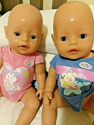 Baby Born Twins   Potty Babies With Extras Barely Used  18 Inch