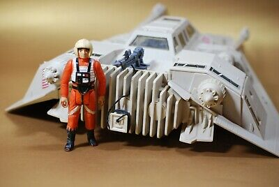 VINTAGE STAR WARS COMPLETE SNOWSPEEDER SOUND LIGHT + FIGURE KENNER snow speeder