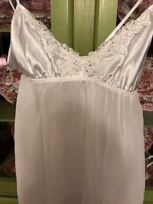 Gilligan & OMalley Nightie 2-piece Set, White, New, XS
