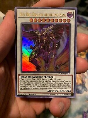 Hot Red Dragon Archfiend Bane - DUPO-EN058- Ultra Rare - 1st Edition - IN HAND!!