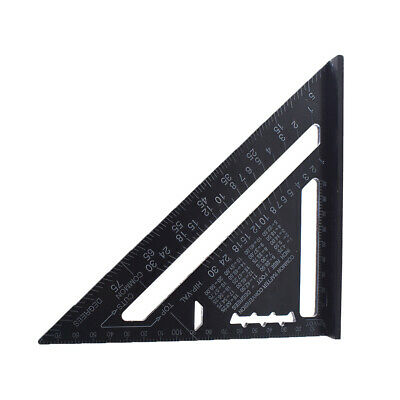 "7"" Metric System Triangle Angle Square Speed Rafter Protractor Miter Ruler"