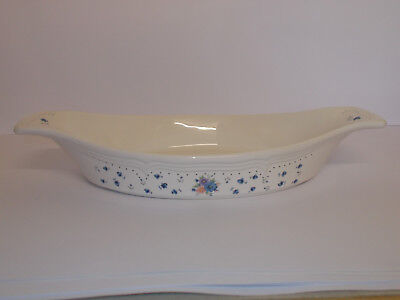 Provincial Bouquet Stoneware Oven Dish Oval Twin Handle Design Lovely