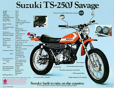 1972 SUZUKI TM-250J Champion Sales Ad Photo - $5 39 | PicClick