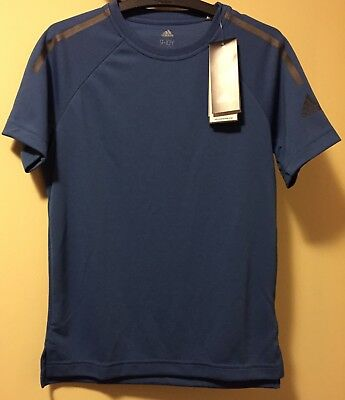 Adidas Cool Tee Trace Royal 9-10y New With Tags Postage $8.55