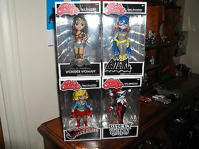 Rock Candy Lot With Wonder Woman,Batgirl,Supergirl,Harley Quinn Funko New