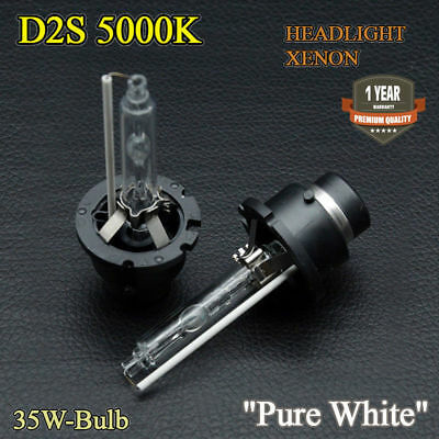 Pair D2S Bulbs Xenon Hid White 5000K Low Beam Land Rover Discovery 3 LR3 04-09