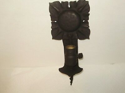 Antique 1920'S Spanish Revival Mission Wrought Iron Wall Light!