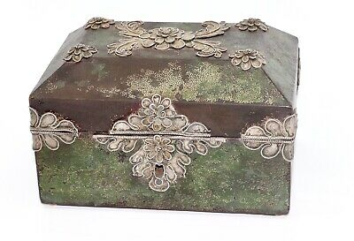 A Fine Quality Antique Early 19th Century French Shagreen & Silver Filigree Box