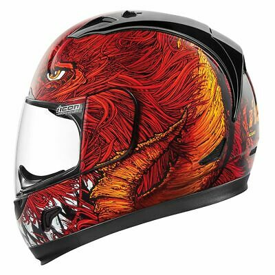 ICON ALLIANCE Lucifer Helmet Red Motorcycle Full Face