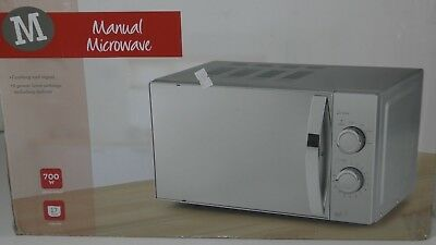 M Savers manual microwave 700W 17Ltr compact Deforest cooking 6 power settings