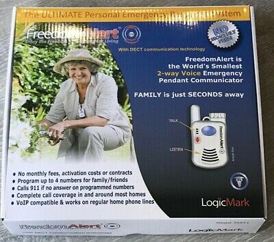 Freedom Alert 35911 LogicMark Personal Emergency Response System No Monthly Fees