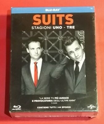 Blu Ray - Serie TV SUITS Stagioni 1, 2 e 3 in unico cofanetto sigillato