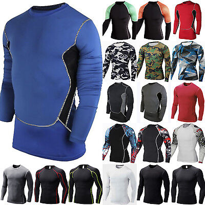 Mens Boys Thermal Compression Armour Base Layer Top Under Gym Sports Shirt Skins