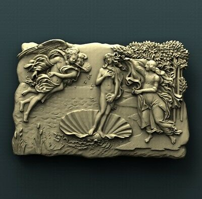 3d STL Model Relief for CNC Router  _ (0396) Woman