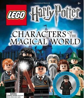 Rare! NOS OOP HC HARRY POTTER Lego BOOK Characters Magical World w/HP miniFIGURE