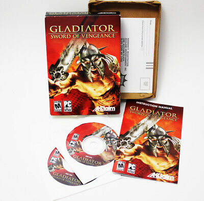Gladiator Sword of Vengeance PC Game 2003 Big Box Set TESTED FREE SHIPPING