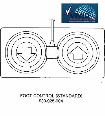 Foot Switch Control Pedal for TRI W-G 820 Treatment Table 900-025-004 NEW