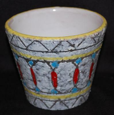 vintage FAT LAVA GLAZE pot painted clay planter made in italy