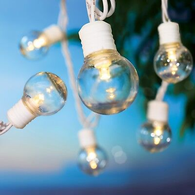 Mainstays 100 Count G30 Outdoor String Lights, Transparent Globe