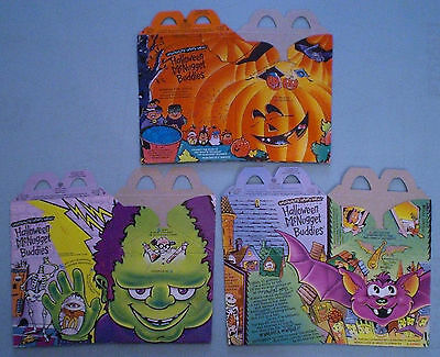 McDonald's 1993 - Halloween McNugget Buddies - Set of 3 Happy Meal Boxes
