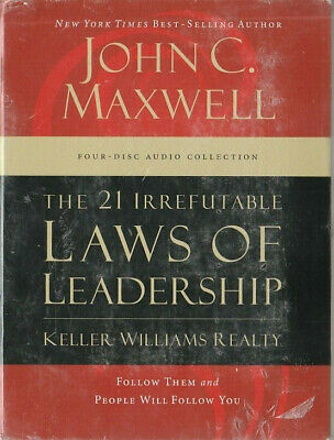 The 21 Irrefutable Laws of Leadership by John C.Maxwell 4 Disc Audio Collection