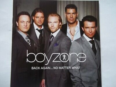 BOYZONE Back Again..No Matter What CD