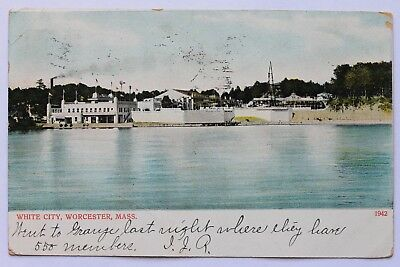 Old UDB postcard WHITE CITY, WORCESTER, MA, pre 1907