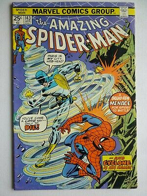 Amazing Spider-Man 143 1975 First Appearance Cyclone Bronze Age Marvel Comics