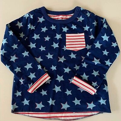 "MINI BODEN Boys Fun ""REVERSIBLE"" Long Sleeve Shirt. 2-3 years.So Comfy and Cute"