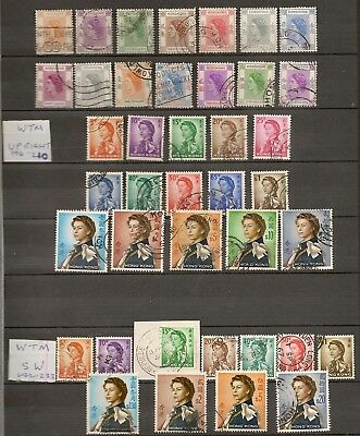 Hong Kong 1954-82 Qeii Definitives Used Collection