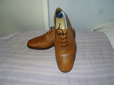 Men's Samuel Windsor Brown Leather Lace-up Shoes, Sz Uk 7 Eu 41 Great Condition