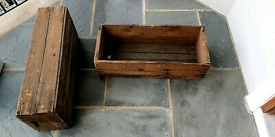 Vintage Wooden Cranberry Boxes//Crates New England Cape Cod Farming Cranberries