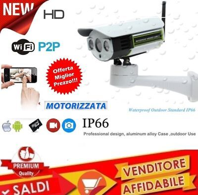Telecamera Motorizzata Ip Camera Wifi Hd 1080P Wireless Led Ir Lan Rete Esterna